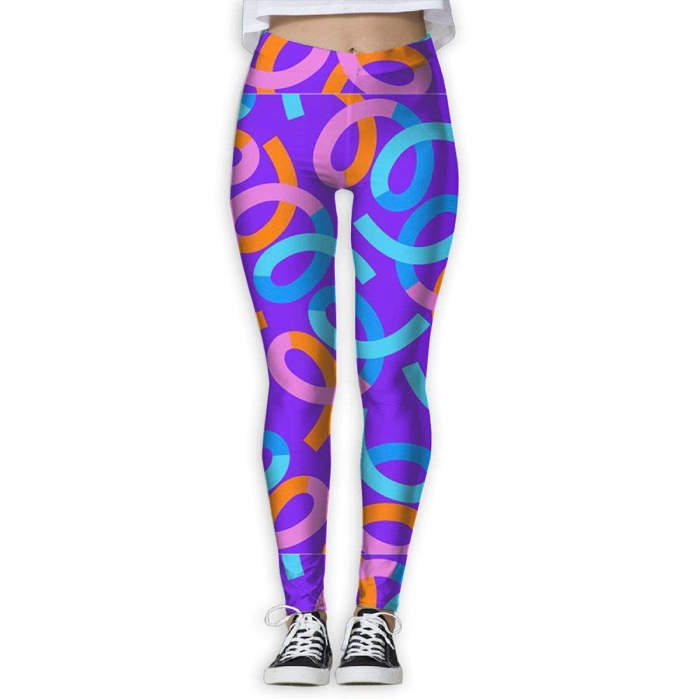 9b40e78dd90b94 Amazon.com: hipring6sk Bright Colored Lines High Waist Out Pocket Yoga  Pants Tummy Control Workout Running Stretch Yoga Leggings White: Clothing