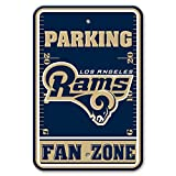 Fremont Die NFL Los Angeles Rams Plastic Parking Sign, 12'' x 18'', Navy