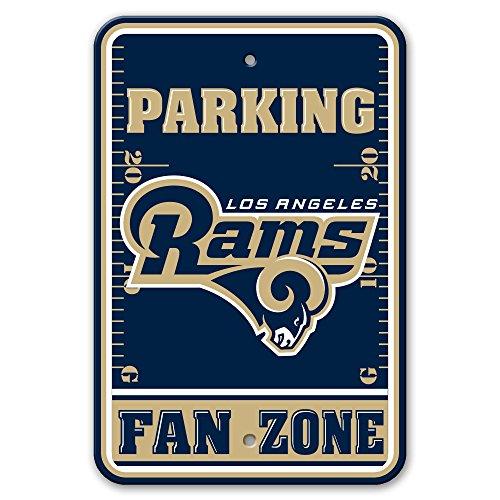 Fremont Die NFL Los Angeles Rams Plastic Parking Sign, 12'' x 18'', Navy by Fremont Die