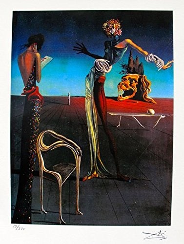 Leos Coffers Wall Art by Salvador Dali Woman with Head of Roses Facsimile Signed & Numbered Giclee Print. After The Original Painting or Drawing. Paper 15 Inches X 11 Inches (Woman With A Head Of Roses Dali)