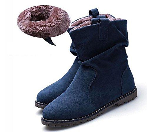 scarpe Martin Ms 41 stivali 35 caldi rotonda grandi piatti corta NSXZ dimensioni BLUEPLUSCOTTON di stivali stivali piega 8w4dS6qz