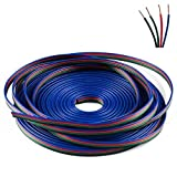 SUPERNIGHT 33FT Led Strip Extension Wire Cable Connector Extension Cable 4-Pin Line Cord Wire for 5050 RGB LED Strip Light