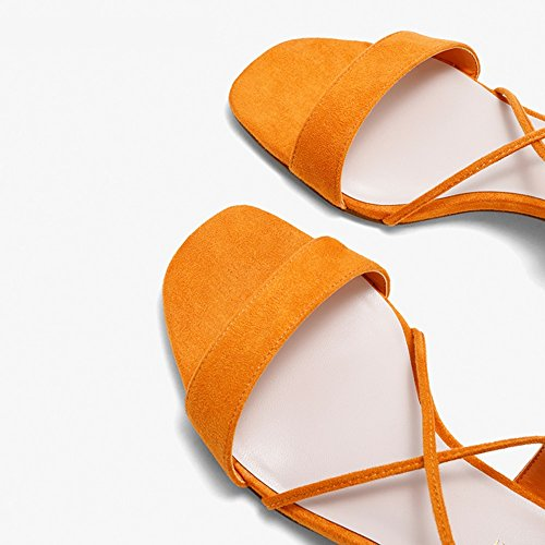 Saison Femmes Décontractées Pure Word Plates Faible Chaussures D'été Orange Band Gland Plage Bloc Croisées WYYY À Sangles Talon Pour Couleur Sandals Chaussures Chaussures Party 6HtvqxE