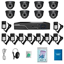 Indoor/Outdoor Dome Camera Full HD Wireless Security Guard Weatherproof AHD Camera Monitor DVR System Video Security System
