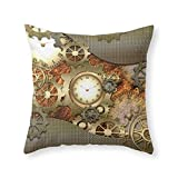 Society6 Steampunk Throw Pillow Indoor Cover (20'' x 20'') with pillow insert