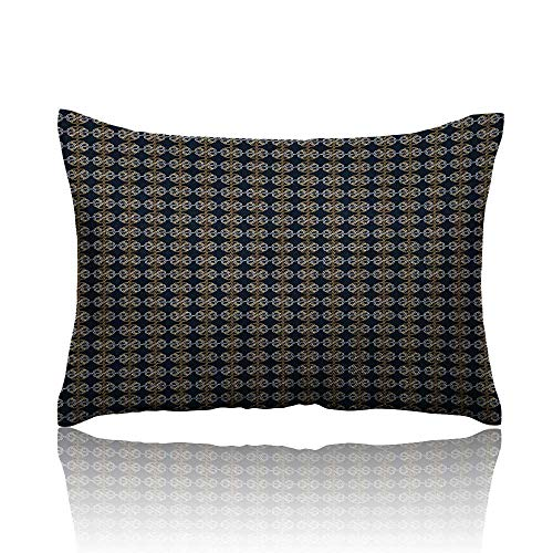 - Anyangeight Abstract Cool Pillowcase Pattern with Interlacing Lines Knots Modern Twisted Tangled Design Long Pillowcase 13