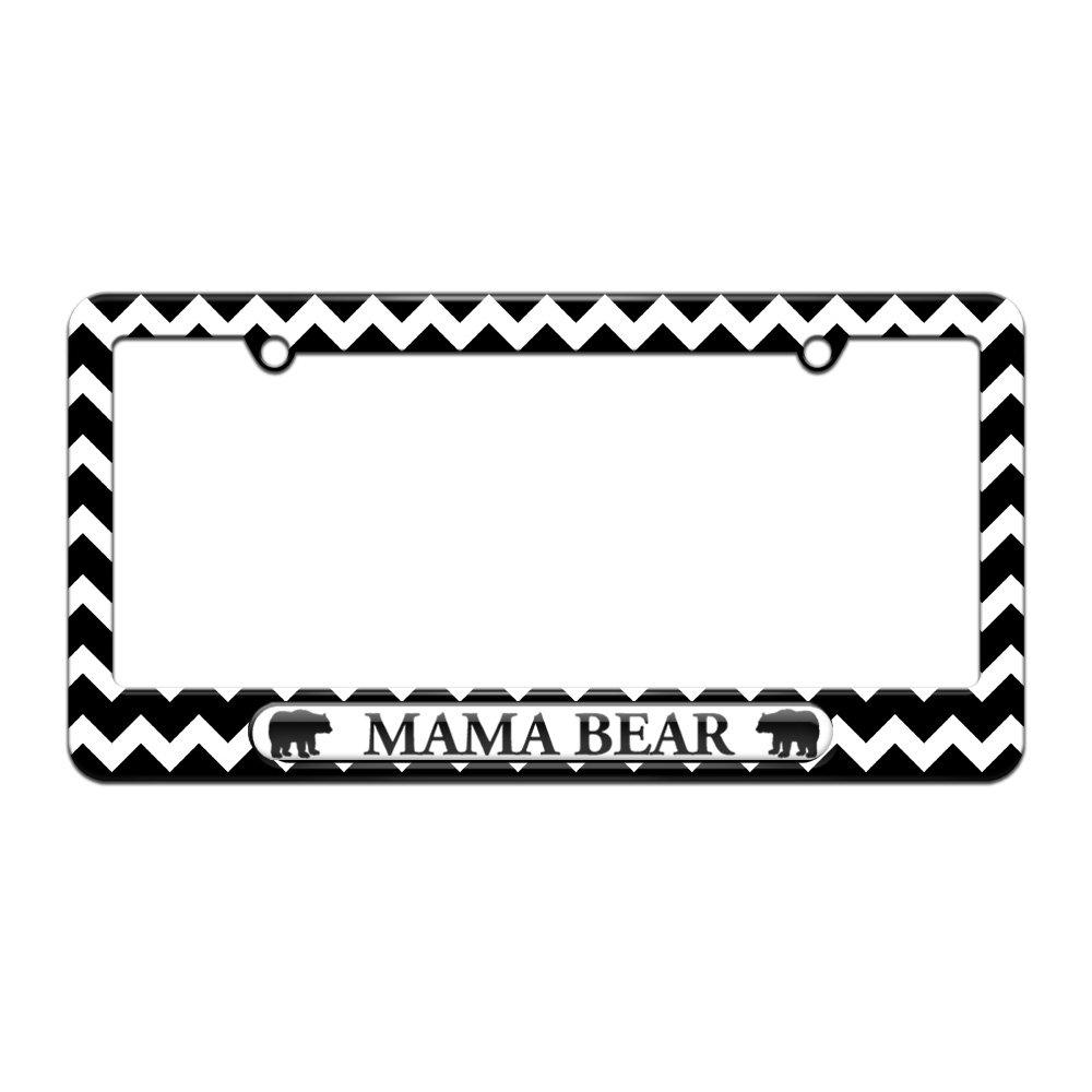 Amazon.com: Graphics and More Mama Bear - License Plate Tag Frame ...