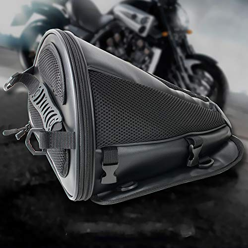 Best Fender Leather Gloves - Pevor Motorcycle Tail Bag PU Leather