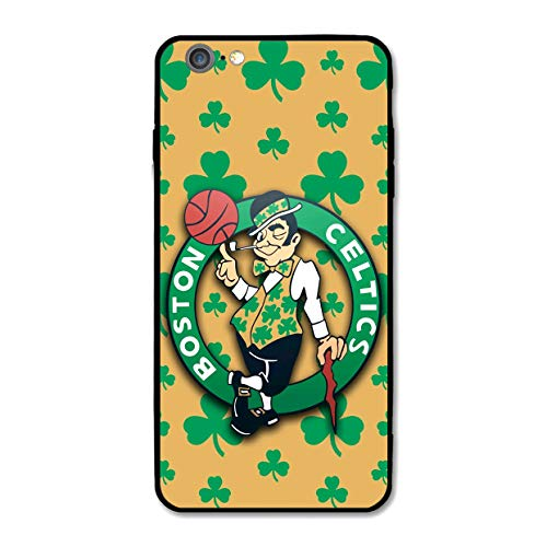 Customevader Phone Case for iPhone 6 iPhone 6s, Ultra-Thin Printed Acrylic Rear Panel Shockproof Anti-Scratch, with Soft TPU Bumper Military Cover for iPhone 6/6s Only 4.7 inches (Celtics-Shamrock) (Shamrock Phone Case)