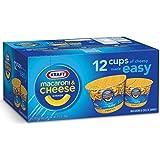 KRAFT Macaroni & Cheese Dinner Cup Easy Mac Original, 58 grams Cups (Pack of 12) by Kraft
