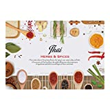 Hoffmaster 311140 Thai Cuisine Placemat, 9.75'' Length x 14'' Width (Pack of 1000)