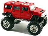 "Set of 4 Cars: 5"" 2008 Monster 4x4 Hummer H2 SUV"