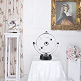 Electronic Perpetual Motion Toy, Kinetic Art Asteroid Orbital Revolving Gadget Desk Toy Science Toys ome Decoration Office Decor Children Gift