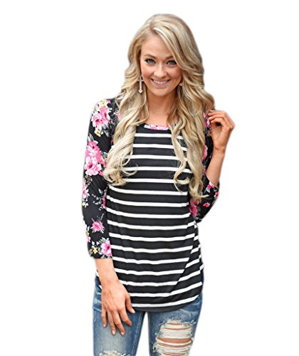 Mansy Womens Floral Printed Stripe