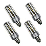 4-Pack 15W LED Corn Bulb,E26/E27 Candle Bulb 60 LED 5736 SMD Warm White ...