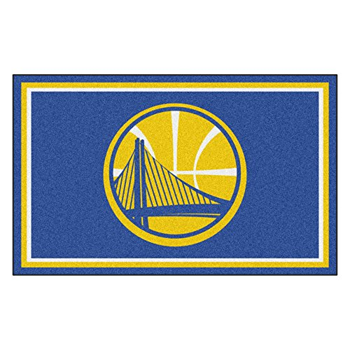 FANMATS 20427 NBA - Golden State Warriors 4'X6' Rug, Team Color, 44''x71'' by Fanmats