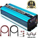 SUDOKEJI 2000W Pure Sine Wave Power Inverter Peak Power 4000W 12V DC to