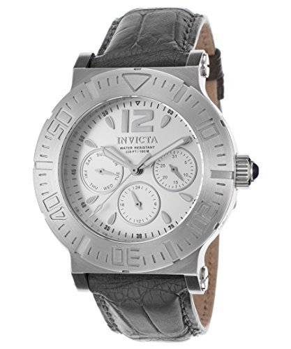 Invicta Specialty Multi-Function Silver Dial Grey Leather Ladies Watch 14919