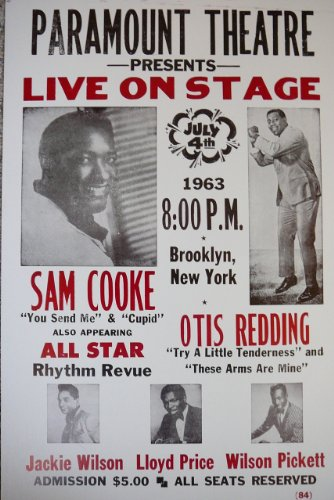 (Sam Cooke, Otis Redding and Others Playing in Brooklyn, NY Poster)