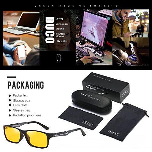 fee3384e2f Glasses for video games Duco 223 PRO Anti-glare protection anti-fatigue  anti UV