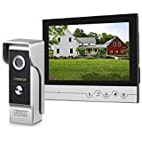 WOLILIWO Video Doorbell 9 inch Monitor with Door Bell Camera Kits Video Intercom System Support Video Doorphone Intercom Night Vision, Connection Door Lock for Home Improvement