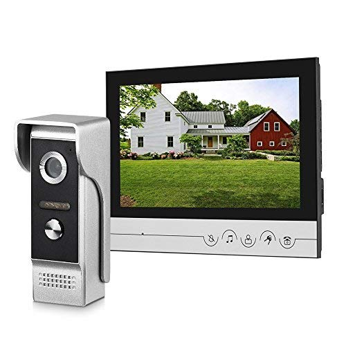 WOLILIWO Video Doorbell 9 inch Monitor with Door Bell Camera Kits Video Intercom System Support Video Doorphone Intercom Night Vision, Connection Door Lock for Home Improvement