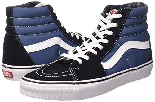 Vans VD5INVY Unisex SK8-Hi Canvas Skate Shoes, Navy/White