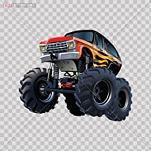 Decal Vinyl Stickers Monster Car Window Wall Art Decor Doors Helmet Truck Motorcycle Note Book Mobile Laptop Size: 5 X 4 Inches Vinyl color print
