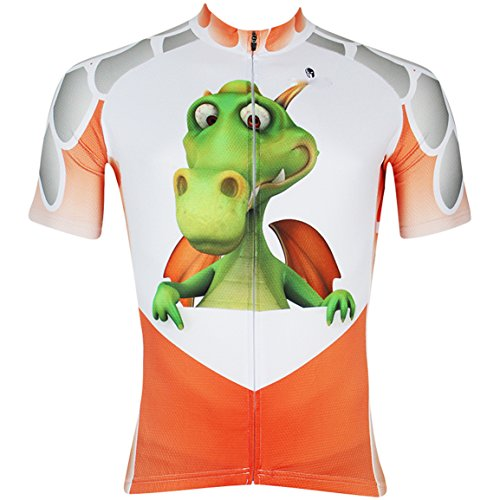 Men's Animals Cycling Short Sleeve Jersey Comfortable Breathable Shirts Sportswear Clothing Bike Top Quick Dry Multicolor Fire dragon