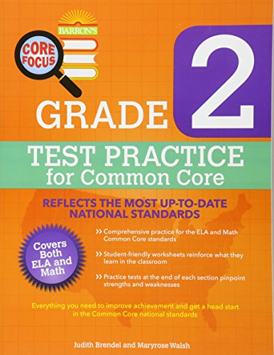 Barron's Core Focus: Grade 2 Test Practice for Common Core