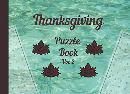 Thanksgiving Puzzle book Vol 2: Large print easy word search puzzles (Thanksgiving