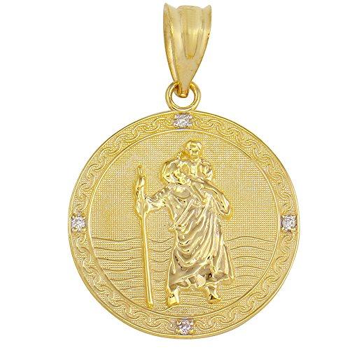 10k gold st christopher medal - 6