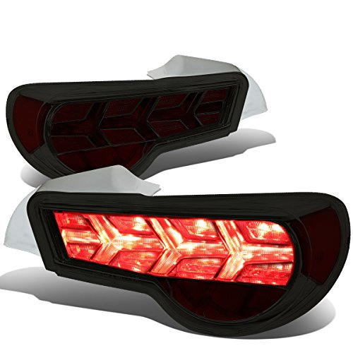 FRS / BRZ / 86 Pair of LED Arrow Sequential Tail Light (Chrome Housing / Smoked Lens / Red Signal)