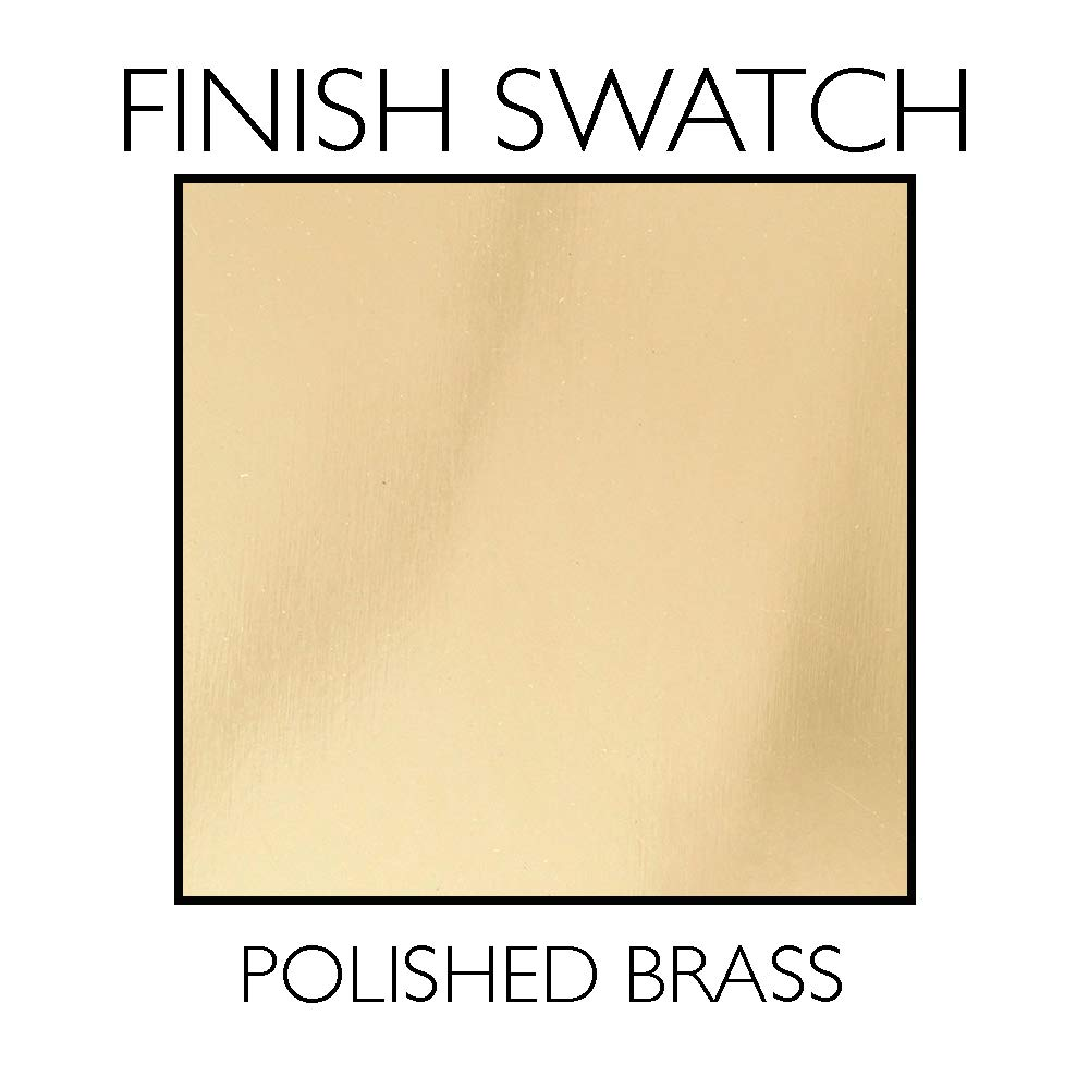 Polished Brass Design House 754796 Pro Scroll Entry Lever