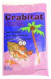 CaribSea Aquatics SCS00606 Crabitat Hermit Crab Sand, 2.2-Pound, Pink