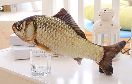 CHANG Juguetes de Pescado para Gatos-Gato de Menta simulada de Pescado Esponjoso-Juguete