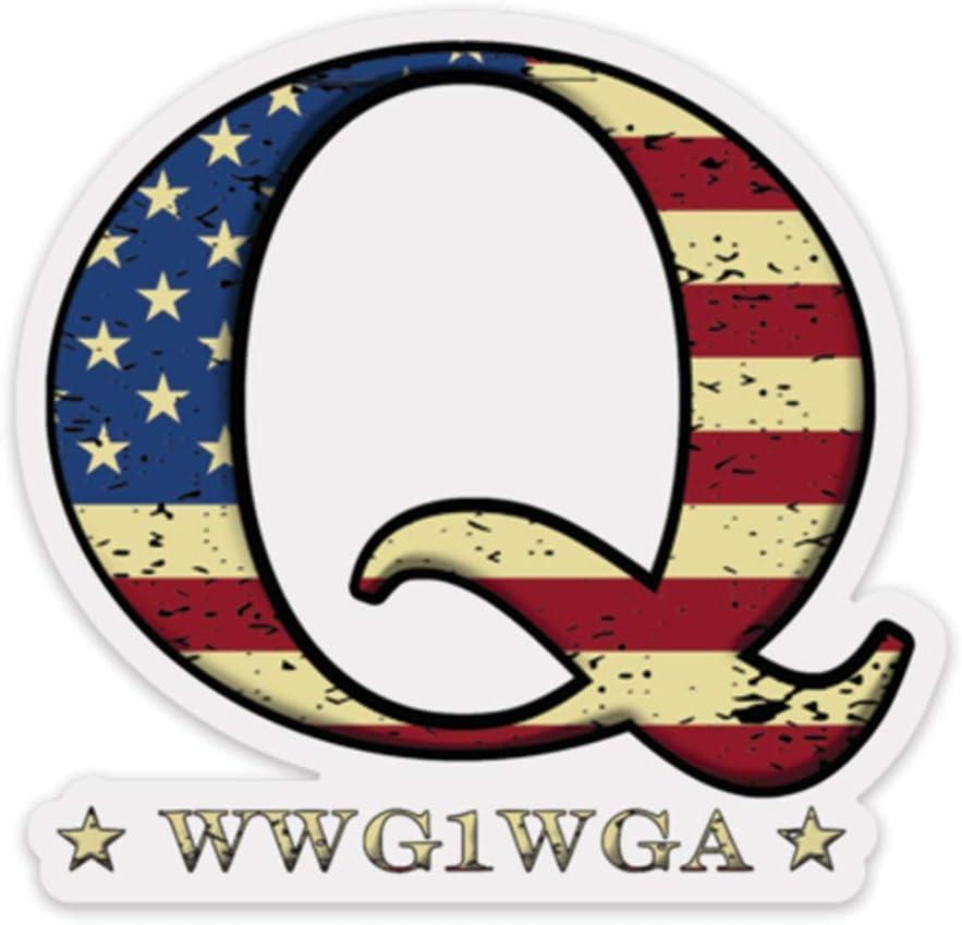QANON BIG USA Q #Qanon #wwg1wga Vinyl Vinyl Decal Wall Laptop Bumper Sticker 5