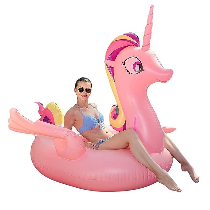 Douup Piscina Hinchable de Unicornio, Playa, natación, Fiestas ...