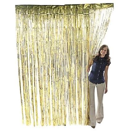 Amazon Com Gold Metallic Fringe Curtain Party Room Decor 3 X 8