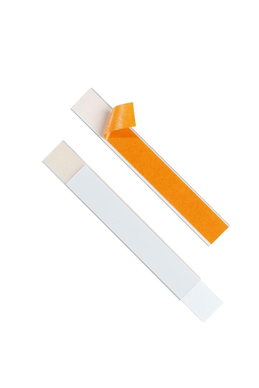 DURABLE 803019 - Labelfix, porta etichetta adesivo, aperto su entrambi i lati, 200x30 mm, trasparente, confezione da 5 pezzi 141040