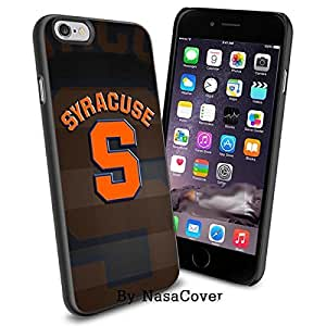 (Available for iPhone 4,4s,5,5s,6,6Plus) NCAA University sport Syracuse Orange , Cool iPhone 4 5 or 6 Smartphone Case Cover Collector iPhone TPU Rubber Case Black [By Lucky9Cover]