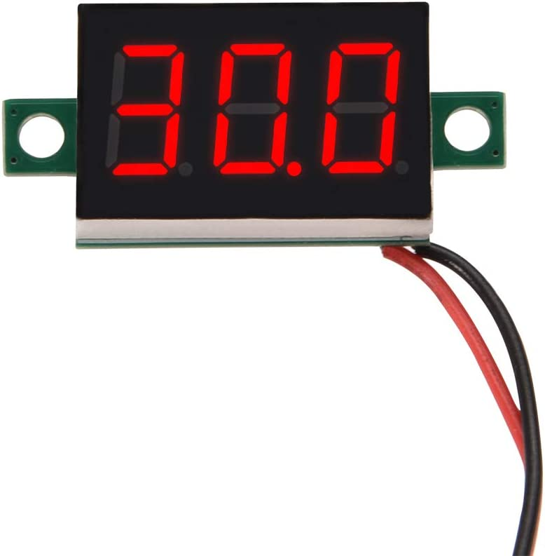 Red DC 4.0-30V 0.36 2 Wire LED Digital Panel Meter Voltage Voltmeter