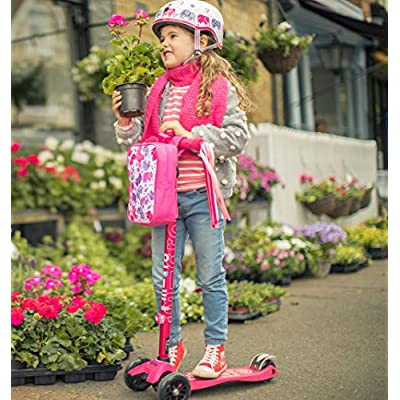 Micro Kickboard - Maxi Deluxe 3-Wheeled, Lean-to-Steer, Swiss-Designed Micro Scooter for Kids, Ages 5-12 - Pink : Sports & Outdoors