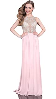 56f5bce04774f Glamour by Terani Couture Womens Taffeta Beaded Crop Top Dress at ...