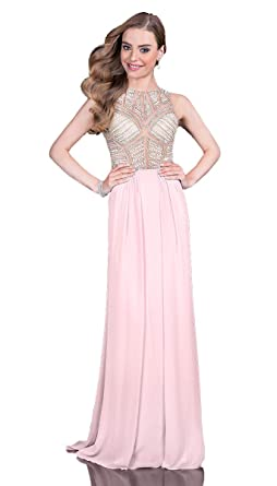 134b14c20d54 Terani Couture Beaded Illusion Bodice Long Dress at Amazon Women's ...
