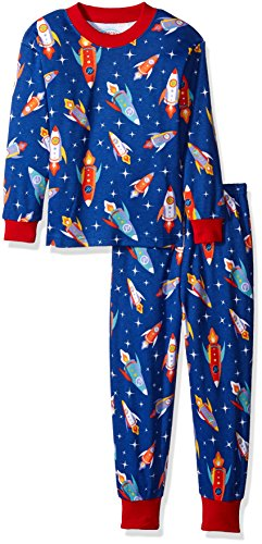 Relaxed Fit Coverall (Sara's Prints Super Soft Relaxed Fit Pajama Set, Rockets In Flight, 4)