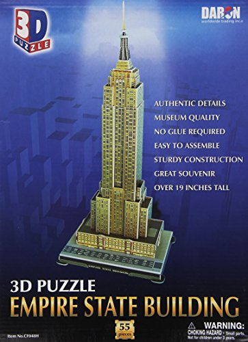 Daron Empire State Building 3D Puzzle, 55-Pieces ()