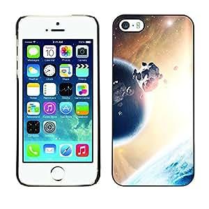 Cubierta de la caja de protección la piel dura para el Apple iPhone 5 / 5S - Planet & Rock Belt