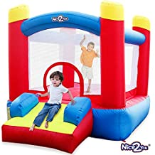 Nice2you Inflatable Kids Jumper Indoor Outdoor Bounce House Birthday Party Kids Bouncy Castle with Blower