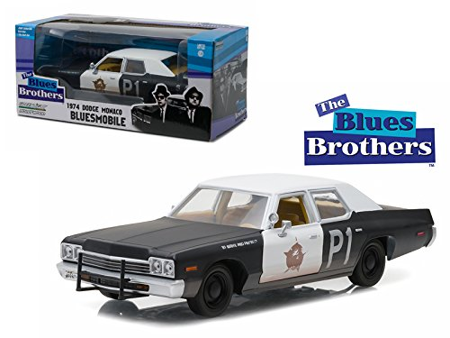 1974 Dodge Monaco Bluesmobile The Blues Brothers Movie 1/24 Model Car by - Car Dodge Brothers